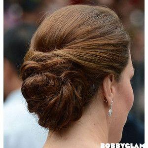 Kate Middleton Updo Hairstyle Bobby Glam