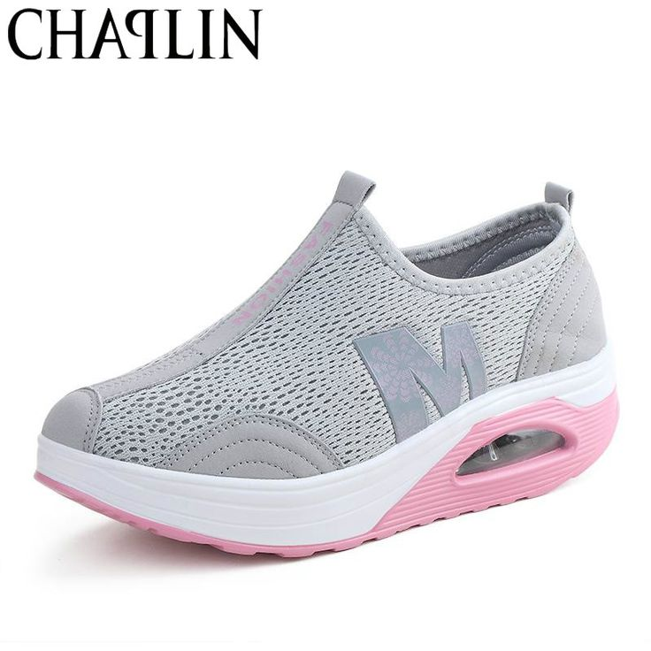 2017 Spring Women Flat Platform Shoes Women Breathable Mesh Casual Shoes  Fashion Platform Sandals Heel Ladies