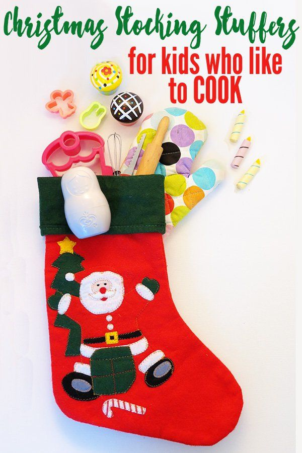 Christmas stocking stuffer and gift ideas for kids who like to cook