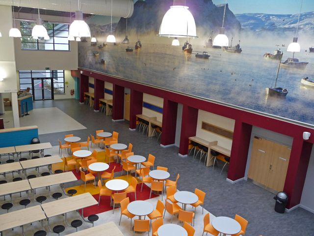 Interior design for Portree High School canteen | Ideas ...