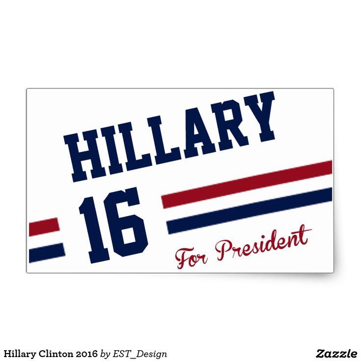 Hillary Clinton 2016 Rectangular Sticker