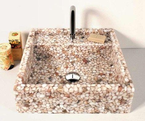 Lavabos de resina y piedra lavabos pinterest - Lavamanos de piedra ...