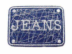 Applicatie jeans blauw