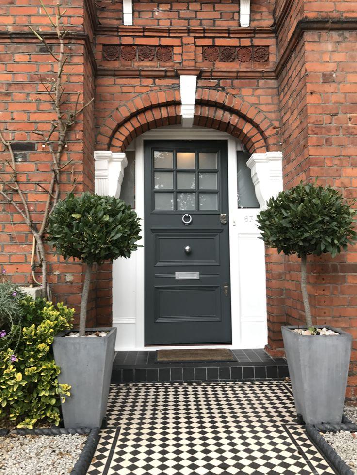 Lovely Edwardian front door with Banham locks in London & Best 32 London doors images on Pinterest | Victorian front doors ...