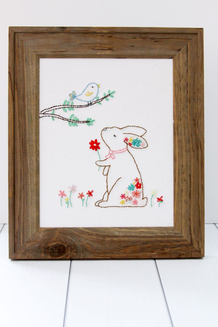 Rosie The Rabbit Embroidery Pattern