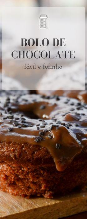 Receita de bolo de chocolate super fofinho