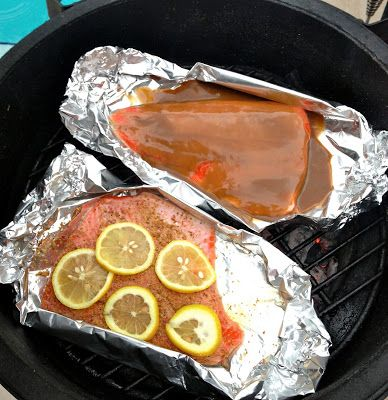 Glazed Grilled Salmon by Cookin' And Kickin'