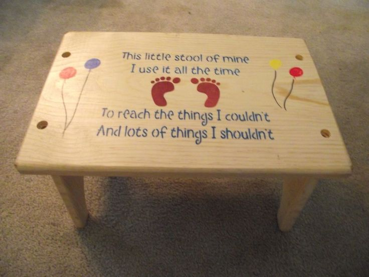 CHILDREN STEP STOOL \ THIS LITTLE STOOL OF MINE \ Finished Solid Pine wood & 74 best Kids Step Stools images on Pinterest | Step stools ... islam-shia.org