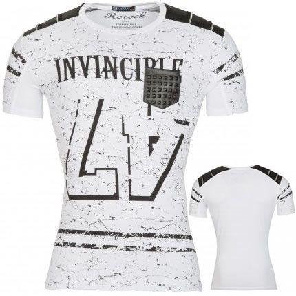 Heren T-Shirt INVINCIBLE Wit HT082 | Modedam.nlKleur: Wit ZwartMateriaal: 93