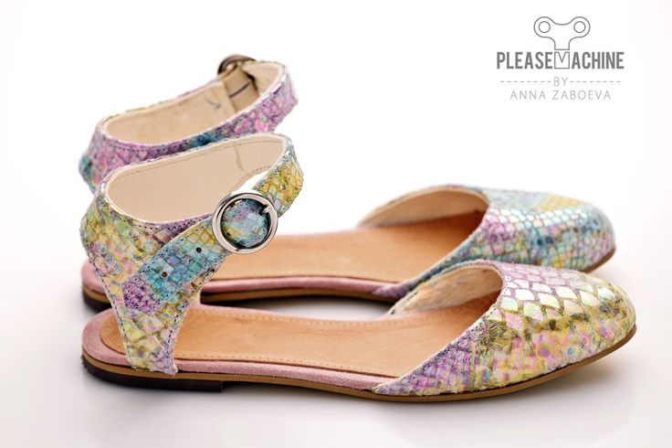 """Rainbow Python - Marilyn Sandals  Handmade in Budapest, Hungary by talented Russian born designer, Anna Zaboeva! Her company is """"Pleasemachine peculiar footwear"""" and y'all should check it out!"""