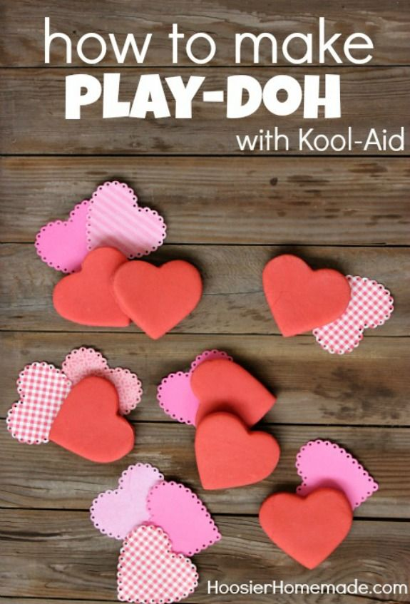Homemade Play-Doh - made with ingredients you have in your kitchen! The kids will have a blast with this soft and smelly dough! Pin to your DIY Board!