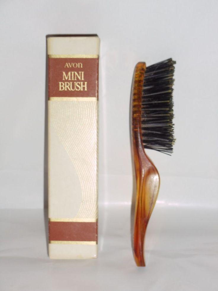 "RARE-IN-BOX AVON Vintage Flair 6 "" Faux Tortoiseshell Hair Brush #Avon"