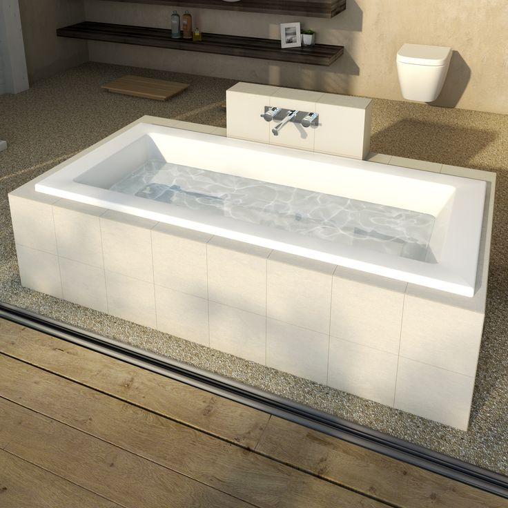 Caroma Newbury Island Bath http://www.caroma.com.au/bathrooms/baths/newbury/newbury-1675-island-narrow-bath