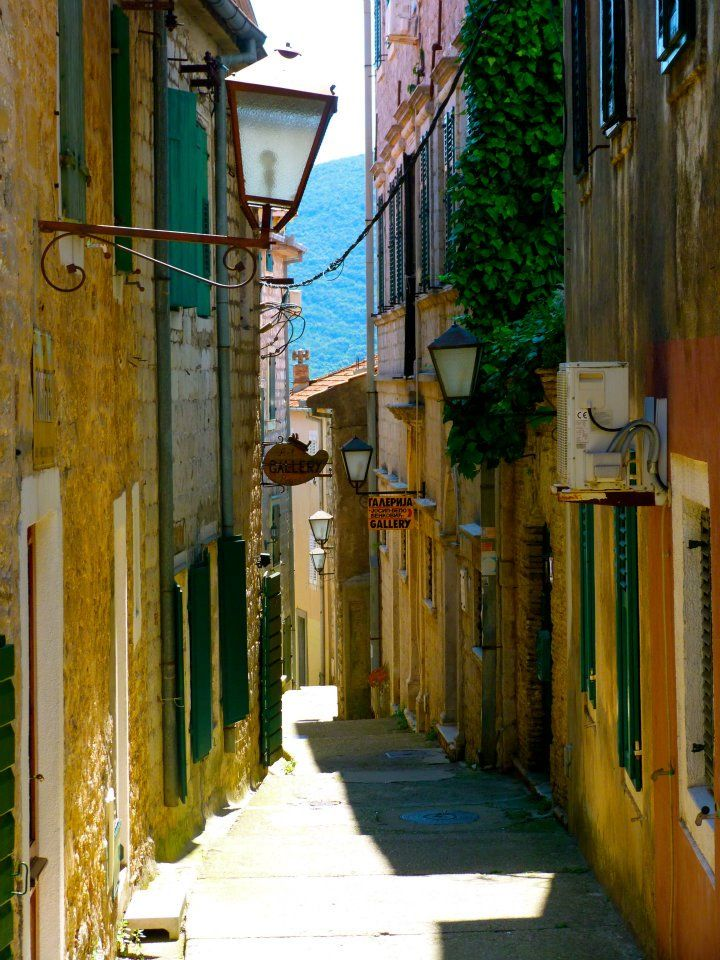 Ive walked down this road millions of times, I never get tired of it. Old town of Herceg Novi, Montenegro