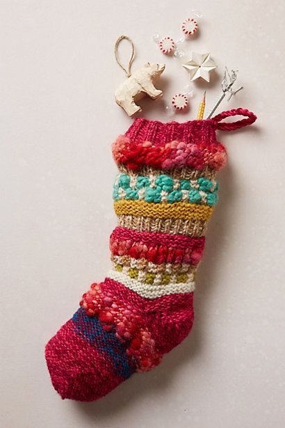Colorful Knit Spice Market Stocking