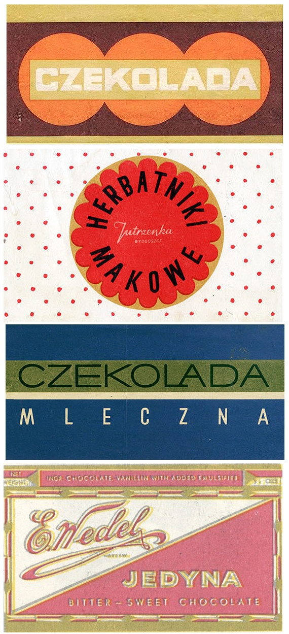 Czekolada (ii).  Some old Polish chocolate labels via Present & Correct
