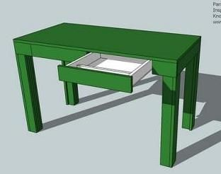 Ana White | Build a A Simple Modern Desk | Free and Easy DIY Project and Furniture Plans