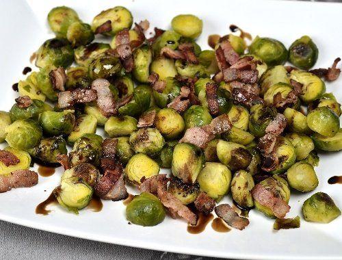 Brysselkål i ugn med bacon