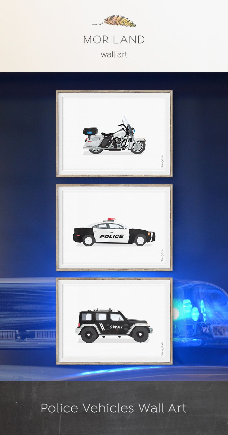 S.W.A.T Vehicle Print, Police Car Wall Art, Police Car Print, Kids Transportation, Emergency Vehicles, Police Nursery, Rescue Vehicles, Police Decor, Toddler Decor, Harley Davidson Police, SWAT SUV Print, Police Theme Room #police #car #wall #decor #art #print #prints #printable #theme #big #boy #room #vehicles #transportation #watercolor #toddlers #diy #instant #download #kids #emergency #rescue #SWAT #Harley #Davidson #motorcycle By MORILAND Wall Art