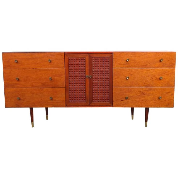 Mid-Century Modern Chest of Drawers | From a unique collection of antique and modern commodes and chests of drawers at https://www.1stdibs.com/furniture/storage-case-pieces/commodes-chests-of-drawers/