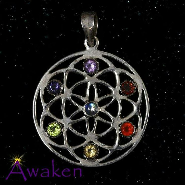 Chakra Stones Flower of Life  www.awakencrystals.com