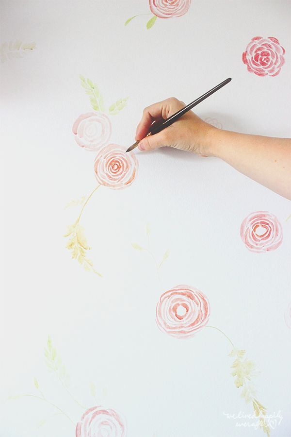 Diy Watercolor Anthropologie Floral Wallpaper Floral Wallpaper