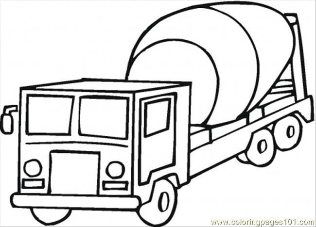 Cement Mixer Coloring Pages Cement Mixers Coloring Pages Super