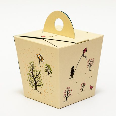 A gift box with four seasons design.