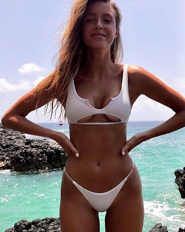 0dede421a6139 Shop link in bio . . . #bikinislayerbabe #slayallday #monslay #bikinimodel  #bikinifashion #whitebikini #kini #beachin #hot #babe #smokin