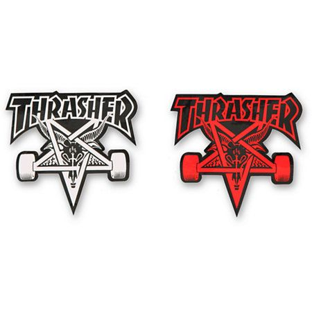 Invest in some iconic style with a pack of 10 assorted stickers including classic Thrasher Magazine logo graphics.