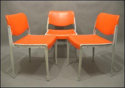Trzy  krzesła Kusch & Co design Hans Ell ...