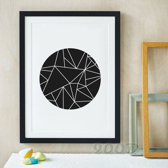 Simple Shape Canvas Art Print, Wall Pictures Home Decoration Print On Canvas, Painting Poster Frame not include FA189