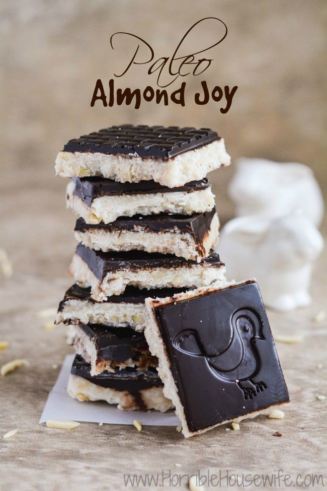 Paleo Almond Joy Bark (step by step) recipe in a spring themed bark mold. Perfect for Easter treats!
