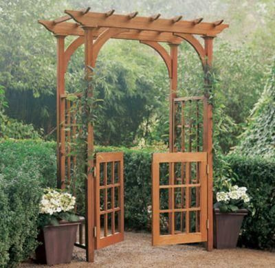 like the arbor with sides and built in gate for out back...