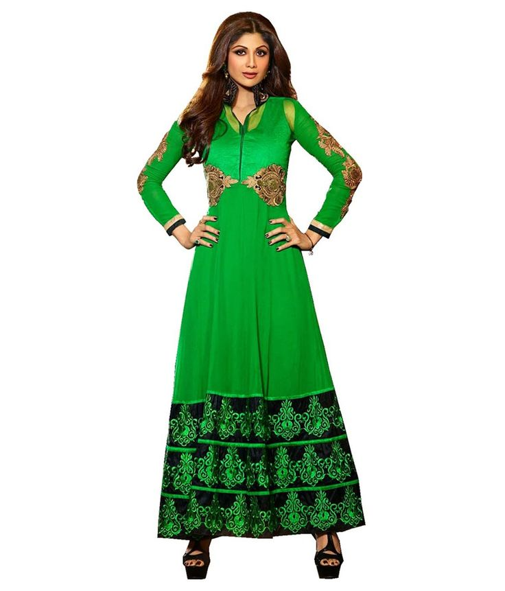 Loved it: Ajay And Vijay Green Pure Georgette Anarkali Salwar Suit, http://www.snapdeal.com/product/ajay-and-vijay-green-pure/1505735695