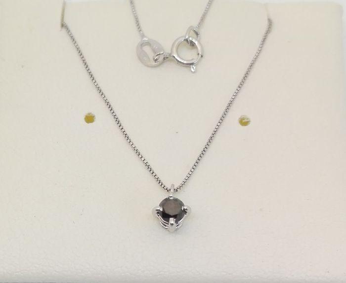 18 kt gouden hanger met 018 ct black diamond. 45 cm lange ketting  geen minimumverkoopprijs   EUR 51.00  Meer informatie