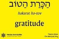 gratitude in Hebrew