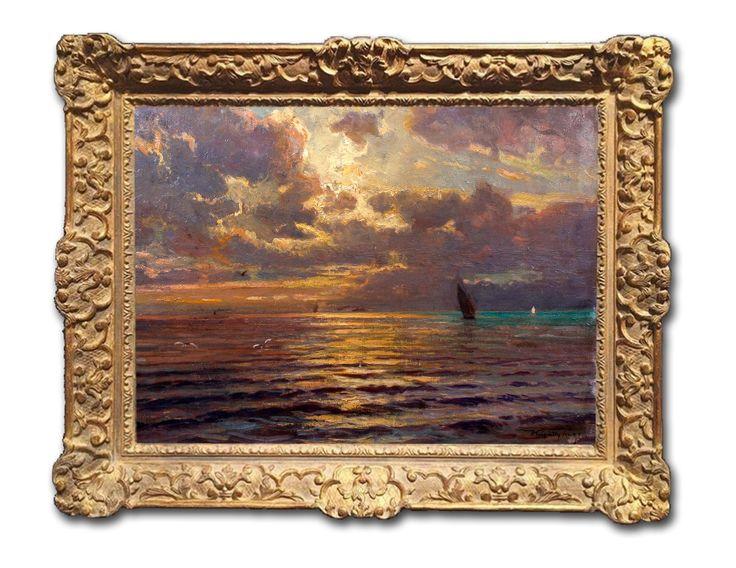 Sunset by the Lake Balaton  Jenő Kárpáthy