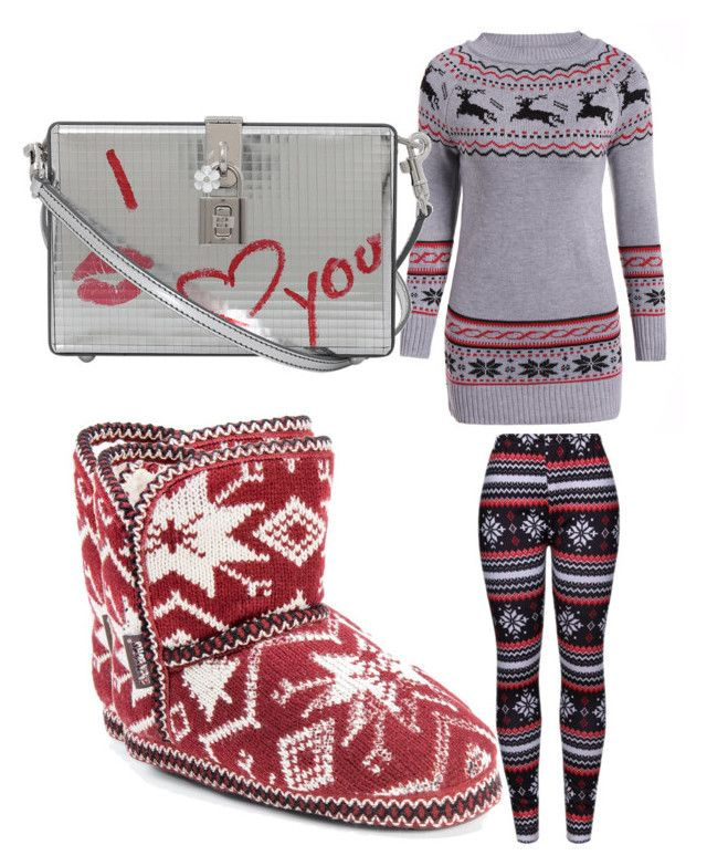 """""""Untitled #164"""" by adrianna-nicole-smith on Polyvore featuring WithChic, Muk Luks and Dolce&Gabbana"""