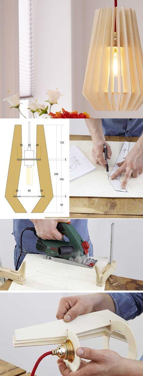 La guida per costruire una lampada in legno #faida…