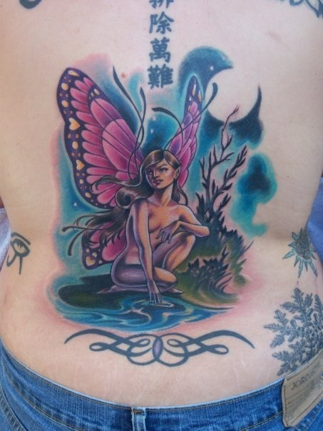 Hannah Aitchison fairy butterfly pinup tat