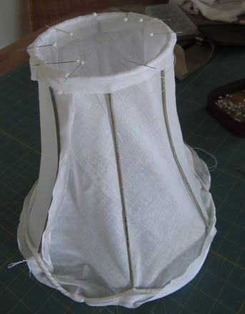 How to cover a lampshade. Make a lamp shade.
