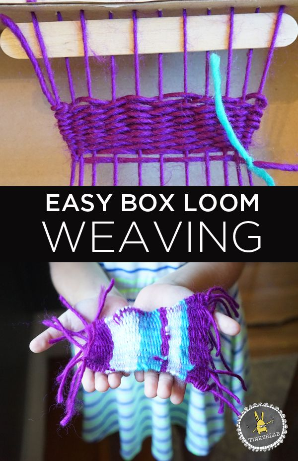 Easy Box Loom Weaving For Kids