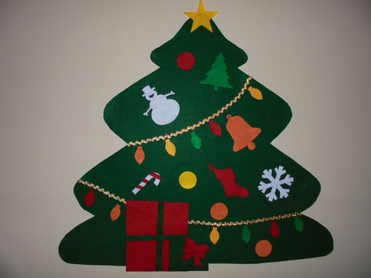 Felt Christmas Tree, SALE, Wall Hanging, Kid's Gift, Children Can Decorate, Children's Christmas Tree with Ornaments, Preschool Activity by greatgifts on Etsy https://www.etsy.com/listing/168247805/felt-christmas-tree-sale-wall-hanging