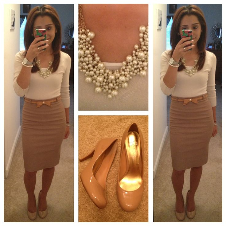 Playing with neutral colors, office outfit. Love it! ❤