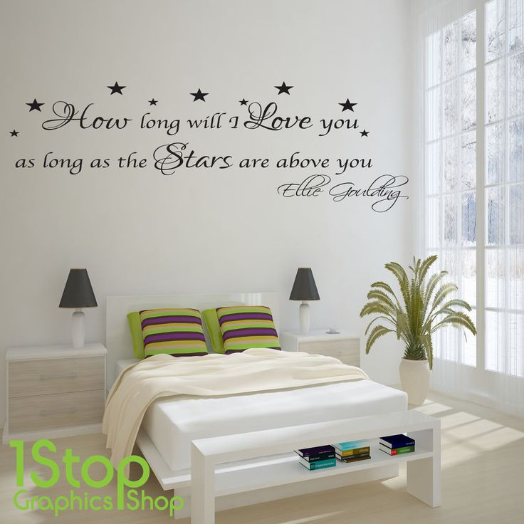Ellie Goulding How Long Will I Love You Wall Sticker Quote   Wall Art Decal  X83 Part 37