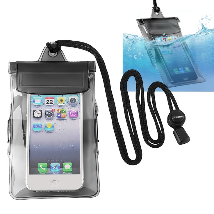 Insten Universal Waterproof Pouch Dry Bag Case with Armband Lanyard for Cell phones, Black