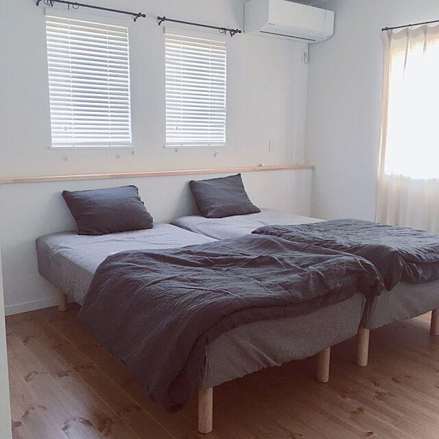 ベッド周り 脚付きマットレス ヘッドボード シンプル 寝室 などのインテリア実例 2018 07 20 17 37 50 Roomclip ルームクリップ インテリア 自宅で 脚付きマットレス