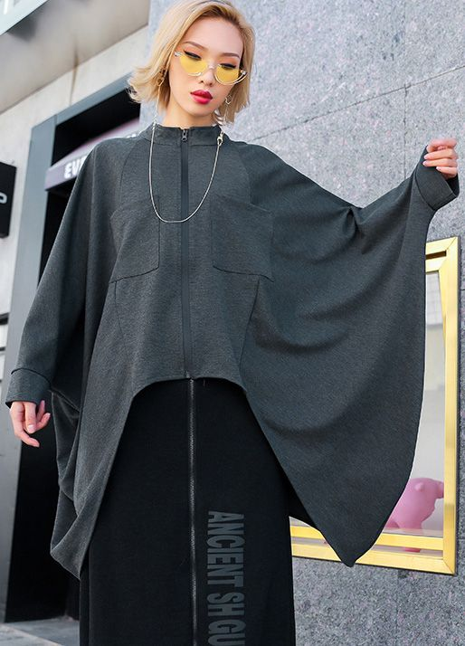 477064079e1 Art o neck exra large hem cotton women plus size Wardrobes gray loose tops  in 2019 | New Fashion Women Tops | Tops, Loose tops, Baggy tops