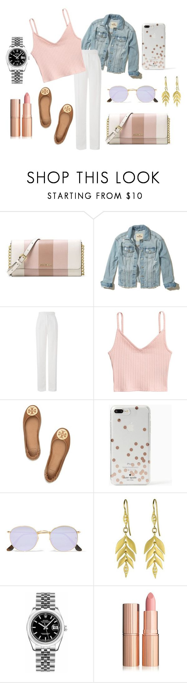"""""""17.10"""" by nicaa on Polyvore featuring moda, MICHAEL Michael Kors, Hollister Co., Amanda Wakeley, Tory Burch, Kate Spade, Ray-Ban e Rolex"""